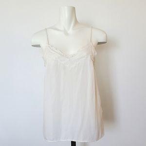 Vero Moda Ivory Camisole with Lace Trim, Size M